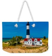 Big Sable Light On The Shore Weekender Tote Bag