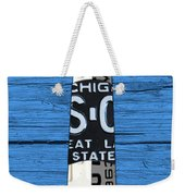 Big Sable Point Lighthouse Michigan Great Lakes License Plate Art Weekender Tote Bag