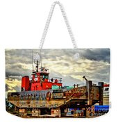 Big Ship Rising Weekender Tote Bag