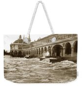 Big Storm Waves At Santa Cruz Beach And Casino And Beach Ca Circa 1925 Weekender Tote Bag