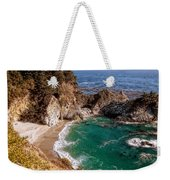 Big Sur - Mcway Falls Weekender Tote Bag by Glenn McCarthy Art and Photography