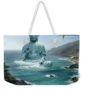 Big Sur Tea Garden Buddha Weekender Tote Bag by Alixandra Mullins