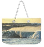 Big Surf At Sunset Weekender Tote Bag