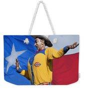 Big Tex And The Lone Star Flag Weekender Tote Bag