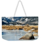 Big Thompson River Through Moraine Park In Rocky Mountain National Park Weekender Tote Bag