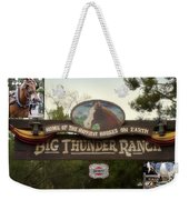 Big Thunder Ranch Signage Frontierland Disneyland Weekender Tote Bag