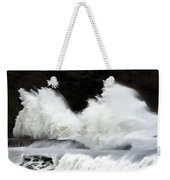 Big Waves Breaking On Breakwater Weekender Tote Bag