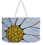 Big White Daisy Weekender Tote Bag