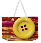 Big Yellow Button  Weekender Tote Bag