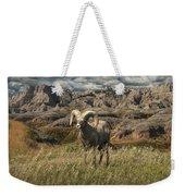 Bighorn Ram In The Badlands Weekender Tote Bag