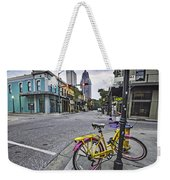 Bike And 3 Georges In Mobile Alabama Weekender Tote Bag