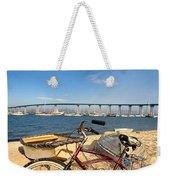 Bike And A Brdige Weekender Tote Bag