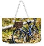 Bike At Nantucket Beach Weekender Tote Bag