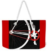 Bike In Black White And Red No 2 Weekender Tote Bag