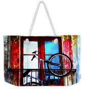 Bike In The Balcony Weekender Tote Bag