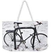 Bike In The Snow Weekender Tote Bag