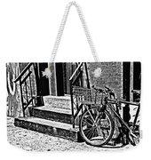 Bike In The Sun Black And White Weekender Tote Bag