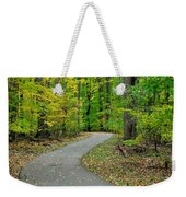 Bike Path Weekender Tote Bag by Frozen in Time Fine Art Photography