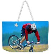 Bike Stunt Weekender Tote Bag