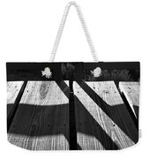 Bike Trail Bridge Bw Weekender Tote Bag