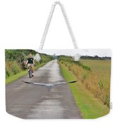 Biker And The Bird Weekender Tote Bag