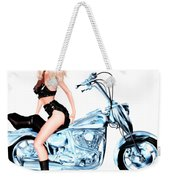 Biker Girl Weekender Tote Bag