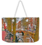 Bikes And Canals Weekender Tote Bag