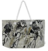 Bikes In The Rain Weekender Tote Bag