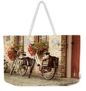 Bikes In The School Yard Weekender Tote Bag