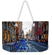Bikes In The Snow Weekender Tote Bag