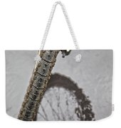 Biking In The Rain Weekender Tote Bag