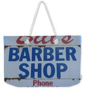 Bill's Barber Shop Weekender Tote Bag