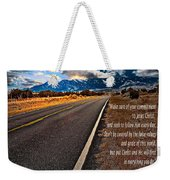 Billy Graham Quote Guidance Weekender Tote Bag
