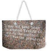 Billy Martin Weekender Tote Bag