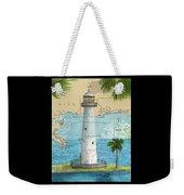 Biloxi Lighthouse Ms Nautical Chart Art Cathy Peek Weekender Tote Bag