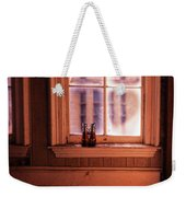 Binoculars On Windowsill Weekender Tote Bag