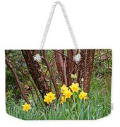 Birch And Daffiodils Weekender Tote Bag