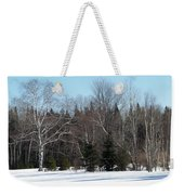 Birch And Evergreen Weekender Tote Bag