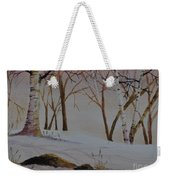 Birch Drift Weekender Tote Bag