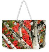 Birch Eclipsing Maple Weekender Tote Bag