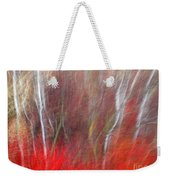 Birch Trees Abstract Weekender Tote Bag