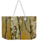 Birch Trees Weekender Tote Bag