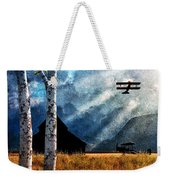 Birch Trees And Biplanes  Weekender Tote Bag by Bob Orsillo