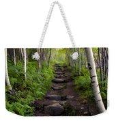 Birch Woods Hike Weekender Tote Bag