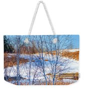 Birches And Cattails Weekender Tote Bag