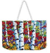 Birches In Abstract By Prankearts Weekender Tote Bag by Richard T Pranke