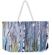 Birches In The Forest Weekender Tote Bag