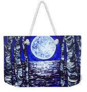 Birches With Shining Water Weekender Tote Bag