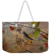 Bird And Berries Weekender Tote Bag