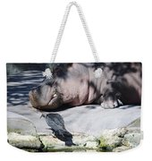 Bird And Hippo Weekender Tote Bag